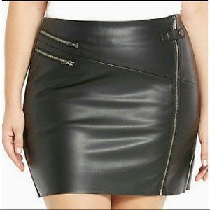 Torrid leather mini skirt